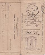 Mandat-lettre Oblitération Le Havre A  A Type D4 Du 24.5.1923 Recette Auxiliaire Rue Mal Galliéni Ind18 Cote 340€ - 1877-1920: Periodo Semi Moderno