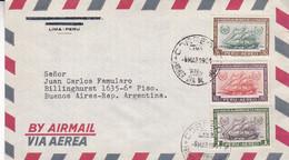 CIEN AÑOS DE LA VUELTA AL MUNDO DE LA FRAGATA PERUANA AMAZONAS. PERU FDC ENVELOPPE CIRCULEE ANNEE 1961.- LILHU - Peru
