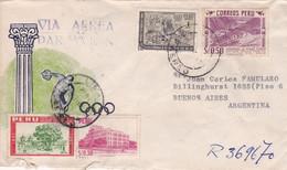 PERU ENVELOPPE CIRCULEE CIRCA 1961, PAR AVION. LIMA A BUENOS AIRES, ARGENTINE.- LILHU - Peru