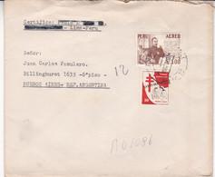 ANTITUBERCULOSO, ANTITUBERCULOSE. PERU ENVELOPPE CIRCULEE ANNEE 1960. LIMA A BUENOS AIRES, ARGENTINE.- LILHU - Peru