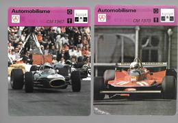 GF319 - 12 FICHES EDITION RENCONTRE - CHAMPIONNAT DU MONDE DE FORMULE 1 - 1967 à 1979 - - Automobilismo - F1