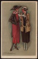 Carte Illustrateur Mauzan - Art Déco - 1921 - 2 Jeunes Femmes / Couple Of Women - Voir Scans - Mauzan, L.A.