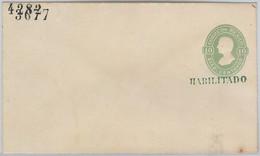 52230 - MEXICO - POSTAL  HISTORY - STATIONERY Overprinted HABILITADO - H & G # 10c - Mexiko