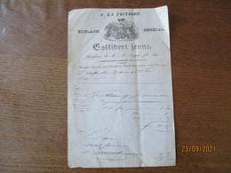 GOLLIBERT JEUNE A LA VICTOIRE ROULAGE GENERAL COMMISSIONNAIRE-EXPEDITEUR POUR TOUS PAYS FACTURE DU 27 AOUT 1838 - 1800 – 1899