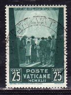 VATICANO VATICAN VATIKAN 1942 OPERE DI CARITÀ DI PAPA PIO XII PRO PRIGIONIERI CENT. 25c USATO USED OBLITERE - Usados