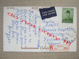BALI DANCE / Recommended From Djakarta To Belgrade - PAR AVION ( 1963 ) - Indonesia