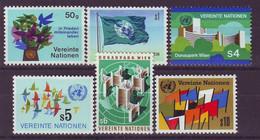 UNITED NATIONS Vienna 1-6,unused,falc Hinged - VN