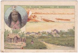 Chromo - Image - Fiche Illustrée - Bon Point : Les Colonies Française ( Le Dahomey ) : Pub - Sirop De Deschiens - Sonstige