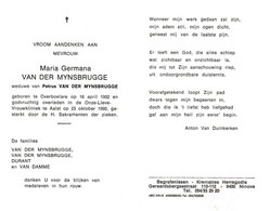 Maria Germana Van Der Mynsbrugge (1902-1990) - Andachtsbilder
