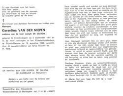 Gerardina Van Der Niepen (1901-1988) - Andachtsbilder