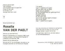 Rosalia Van De Paelt (1898-1990) - Andachtsbilder