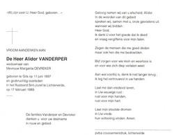 Alidor Vanderper (1897-1989) - Andachtsbilder
