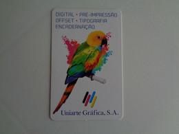 Birds Oiseaux Aves Uniarte Gráfica Portugal Portuguese Pocket Calendar 2017 - Small : 2001-...