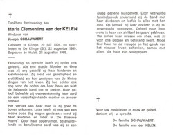 Maria Clementina Van Der Kelen (1904-1989) - Andachtsbilder