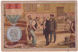 Chromo : Publicité : Médaille Du Commerce Et De L'industrie : Au Petit Paris - Lingerie Bonneterie - Clermont Ferrand - - Aiguebelle