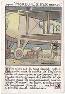 """Chromo : Chocolat MOREUIL :  Sans Moreuil """" Il était Mangé! """" N° 5 : Un Avion Est La ...... - Sonstige"""