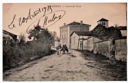 CHARNOZ-sur-AIN (01) GRANDE RUE. ATTELAGE D'ANES. 1915. - Altri Comuni