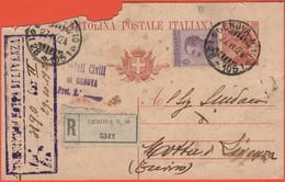 REGNO D'ITALIA - 1924 - 50 + 30c - Ospedali Civili - Raccomandata - Viaggiata Da Genova Per Motta Di Livenza - Marcophilia