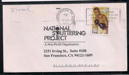Enveloppe Circulée USA 1994 Avec Timbre De Boxe - Pugilato