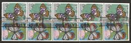 Japan 1987 Sc 1699e  Booklet Pane Used Major Perf Separation/wrinkling - Blocchi & Foglietti