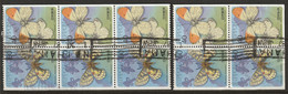 Japan 1987 Sc 1699d  Booklet Pane Used Separated Wrinkling - Blocchi & Foglietti