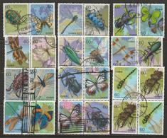Japan 1986 Sc 1680a-99f  Complete Set Pairs/blocks Used - Usati