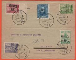 REGNO D'ITALIA Occupazione Di Fiume - 1920 - 5 Valori - Viaggiata Da Fiume Per Fiume - Fiume