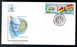 Bolivie 2006 Série Rotary En Couverture Le Premier Jour De Diffusion - Rotary, Lions Club