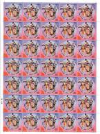 INDIA 2020 Salute To Covid-19 Warriors Coronavirus Health Vaccination Medicine Full Sheet (Limited) MS (**) Inde Indien - Nuovi