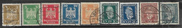 Germany    1924-5   Sc#340-3  Stephan UPU Set & Sc#330-3, 336  Used   2016 Scott Value $6.05 - Used Stamps