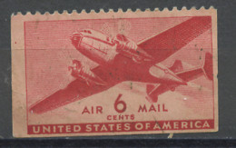 Etats Unis - Vereinigte Staaten - USA Poste Aérienne 1941-44 Y&T N°PA26dbg - Michel N°F500Drul (o) - 6c Bi Moteur - 2a. 1941-1960 Afgestempeld
