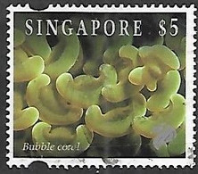 Singapore 1994  Sc#684  $5   Bubble Coral  Used   2016 Scott Value $9 - Singapore (1959-...)
