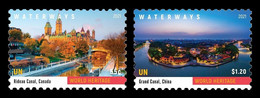 United Nations (New York) 2021 Mih. 1804/05 UNESCO World Heritage. Bridges, Waterways And Railways (I) MNH ** - Ungebraucht