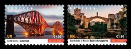 United Nations (Vienna) 2021 Mih. 1113/14 UNESCO World Heritage. Bridges, Waterways And Railways (I) MNH ** - Ungebraucht