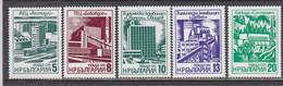 Bulgaria 1976 - Modern Industrial Buildings, Mi-Nr. 2496/500, MNH** - Ungebraucht