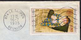 """PICASSO Europa  80c Y.T.1840 SEUL Sur Enveloppe PUB De 974 LE TAMPON """" La Réunion """" Le 16 7 1975 Pour 94260 FRESNES - 1961-...."""
