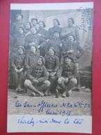 LES SOUS OFFICIERS DE LA 6e COMPAGNIE 24e BCA MAI 1915 CARTE PHOTO - Regiments