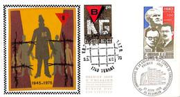 D - [910772]TB//-Belgique 1975 - N° 1768, 1740 TERNAT - 25 BESANCON, Belgique - France, FDC Soie, Libération Des Camps - 1971-80
