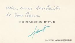 LE MARQUIS D,YVE - Tarjetas De Visita