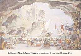 (QU589) -POLIGNANO A MARE (Bari) - La Grotta Palazzese (ora Sede Dell'omonimo Ristorante) In Un  Disegno Di Desprez 1784 - Bari