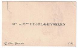 Mr & Mme PUJOL-GHYSELEN RUE GANTOIS LILLE - Tarjetas De Visita
