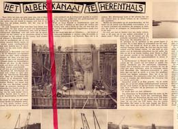 Orig. Knipsel Coupure Tijdschrift Magazine - Herentals - Werken Albertkanaal - 1934 - Non Classés