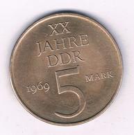 5 MARK 1969 DDR (uncric.) DUITSLAND /7303/ - 5 Mark