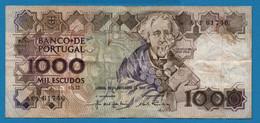 PORTUGAL 1000 ESCUDOS 26.02.1987 # AFF 61746 P# 181c  Joaquim Teófilo Fernandez Braga - Portugal