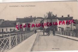 16- CHABANAIS - PONT ET RUE NATIONALE -SALON DE COIFFURE -   EDITEUR HALBOUT - Other Municipalities