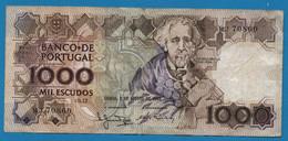 PORTUGAL 1000 ESCUDOS 2.08.1983 # MJ 70860 P# 181a  Joaquim Teófilo Fernandez Braga - Portugal