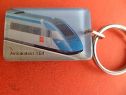 PC Style Bourbon Automoteur TER - Train SNCF Region Midi Pyrenées - Croix Occitane - Key-rings
