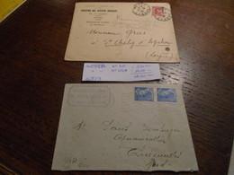 Au Type MERCURE 2 Lettres N° 412 Et N° 414 A  Cote 19,00 Eur Lire DESCRIPTIF ++ 5 Photos - Gebraucht