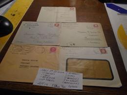 1940/45  Au Type PETAIN  5 Lettres Avec TP/DIVERS  +  5 OBL/  VILLES DIF/Lire DESCRIPTIF ++ 5 Photos - Gebraucht
