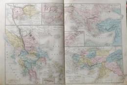 Rare Double Carte Des TEMPS HEROIQUES, COLONIES GREQUES ETC... Par Drioux & Leroy.  Vers 1872. - Geographical Maps